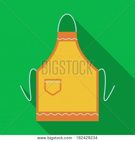 Apron icon in flate style isolated on white background. Kitchen symbol vector illustration.