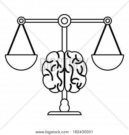 brain balance image outline vector illustration eps 10