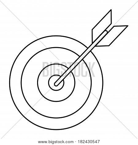 target success market outline vector illustration eps 10