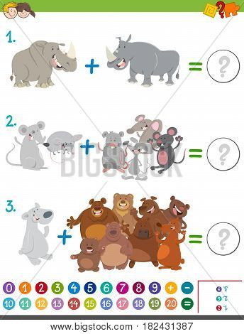Addition Maths Game With Animals