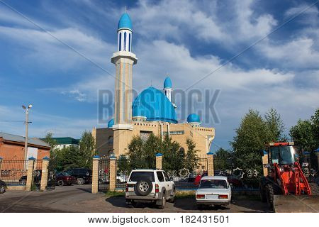 The modern mosque Kyzyl-Zhar in Petropavl northern Kazakhstan. The building was built at the beginning of the XX century.