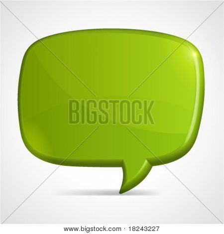 Abstract glossy speech bubble vector background. Eps 10.