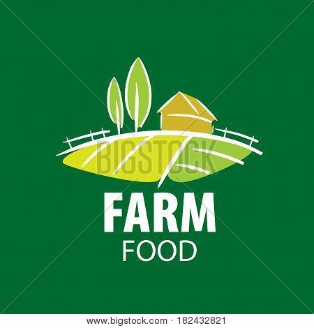 template design of logo farm food. Vector illustration icon