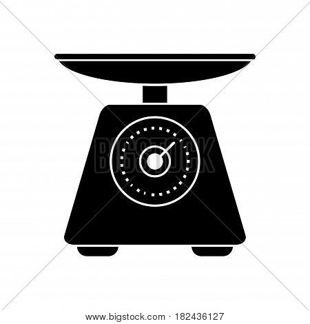 scale food tool healthy pictogram vector illustration eps 10