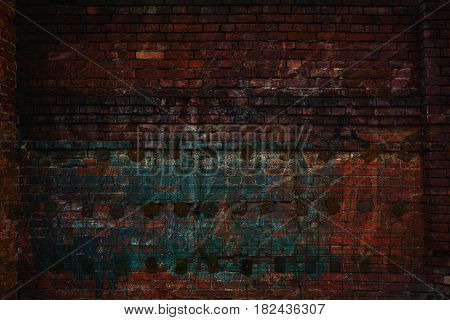Grunge textured background. Dark creative background for the designer. Empty space. Wall with scratches and rubs