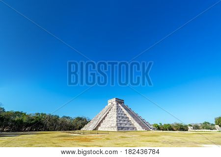 Chichen Itza Wide Angle View