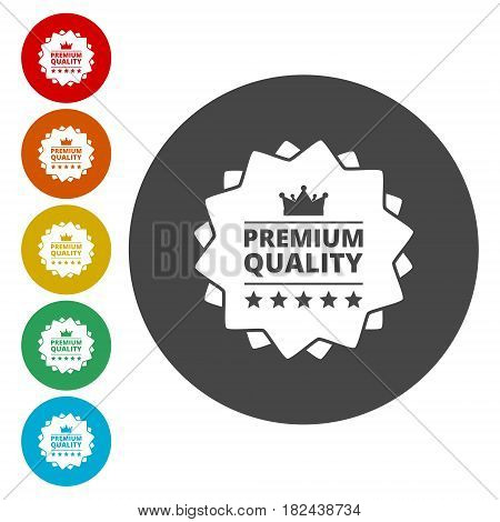 Premium quality badge on white background vector