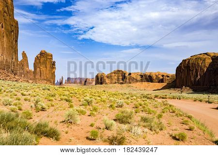 Famous Butte In Monument Valley, Arizona