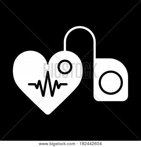 stethoscope, phonendoscope medical isolated vector illustration. Eps 10