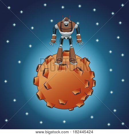 robot inteligence artificial machine vector illustration eps 10
