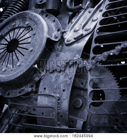Steampunk Style Mechanical Background