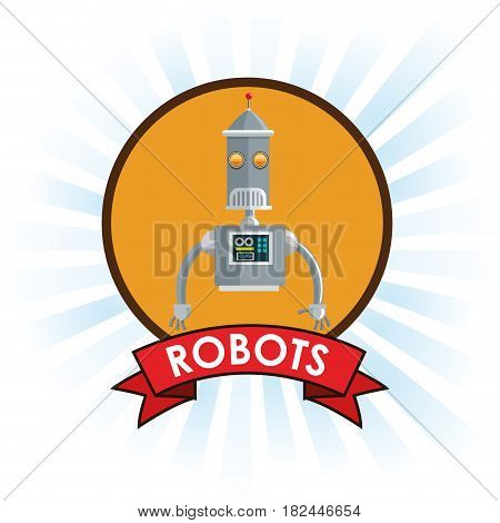 robots technology science future banner vector illustration eps 10