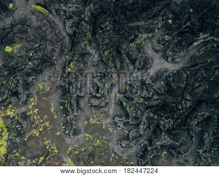 Volcano Batur from above, Bali , Indonesia