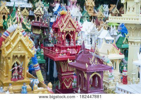 Thailand Lampang Mae Tha Spirit House