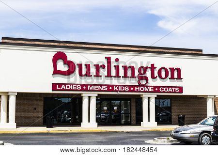 Fort Wayne - Circa April 2017: Burlington Coat Factory Strip Mall Location. Burlington is an American national off price department store retailer I
