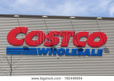 Fort Wayne - Circa April 2017: Costco Wholesale Location. Costco Wholesale is a Multi-Billion Dollar Global Retailer VIII