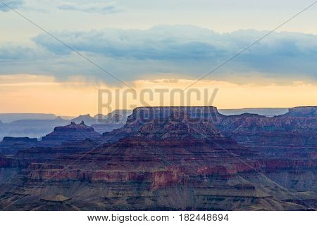Sunset View From Desert View Point Into The Grand Canyon