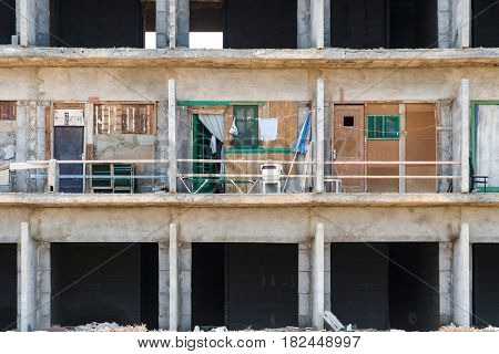 rotten shell of building of construction without construction permit