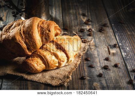 Croissants And Coffee Pot
