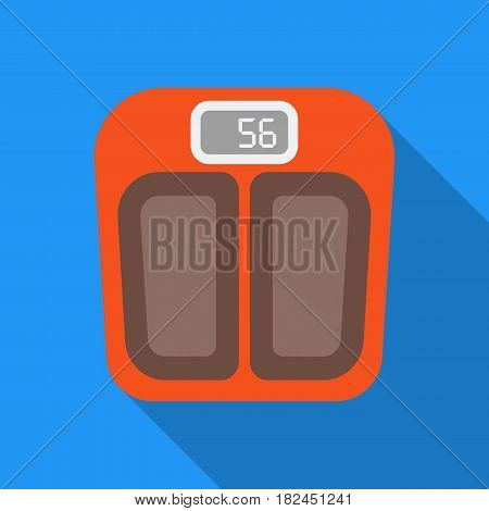 Scale icon in flat style isolated on white background. Pregnancy symbol vector illustration.