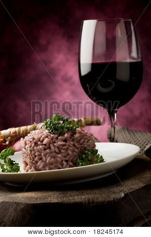 Risotto With Red Wine