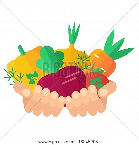 Hands With Vegetables