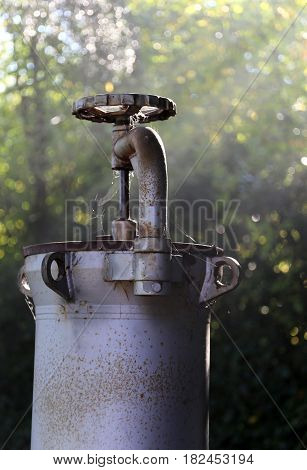Shut-off Valve To Close The Gas Of A Gas Pipeline Which Passes T