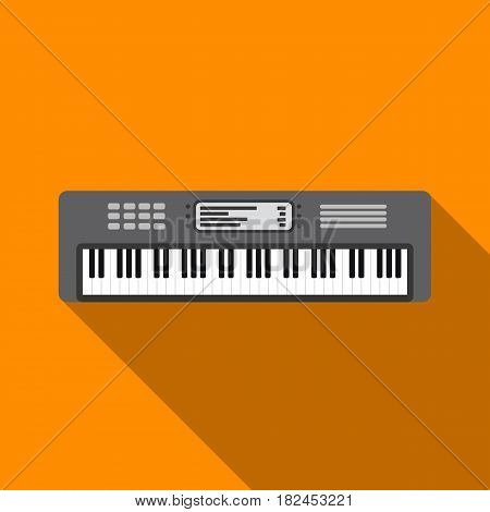 Synthesizer icon in flat style isolated on white background. Musical instruments symbol vector illustration