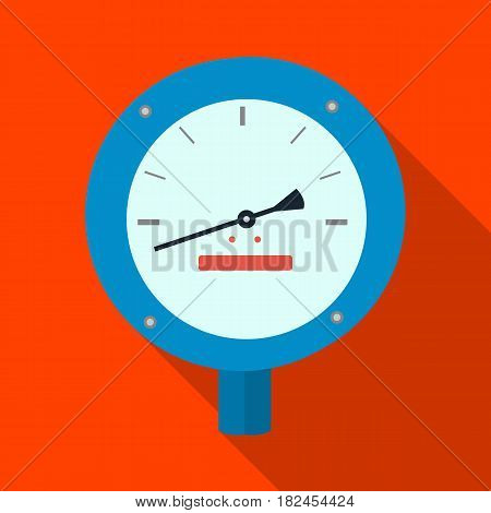Oil manometer icon in flat style isolated on white background. Oil industry symbol vector illustration.