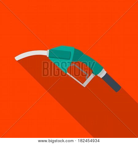 Fuel nozzle icon in flat style isolated on white background. Oil industry symbol vector illustration.