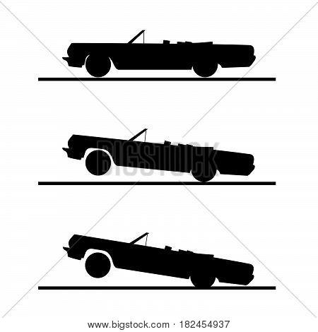 Car Speed Set In Black Color Illustration