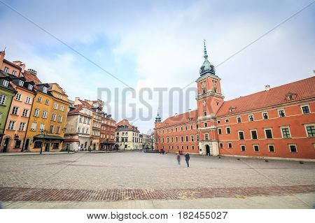 City Center Of Warsaw With The Royal Castle, Poland