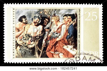 EAST GERMANY - CIRCA 1977 : Cancelled postage stamp printed by East Germany, that shows  Painting by Rubens.