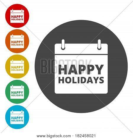 Calendar Colorfull vector eps10 illustration. Happy Holidays