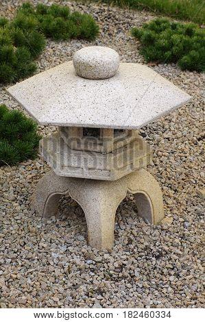 stone lantern Japanese garden objects decoration outdoor