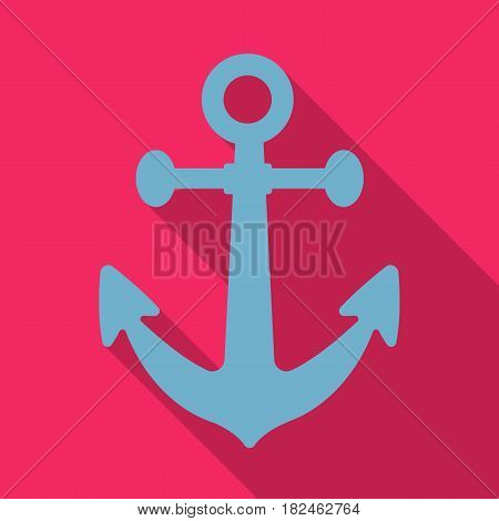 Anchor icon in flat style isolated on white background. Pirates symbol vector illustration.