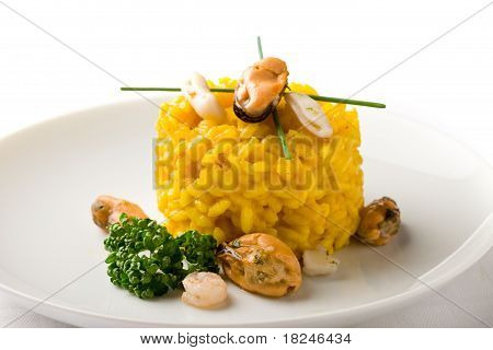 Risotto With Saffron And Seafood