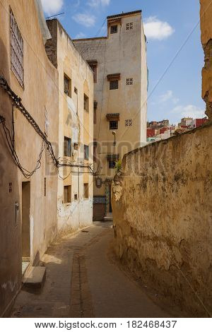 Narrow Streets In The Old Medina Fes, Morocco