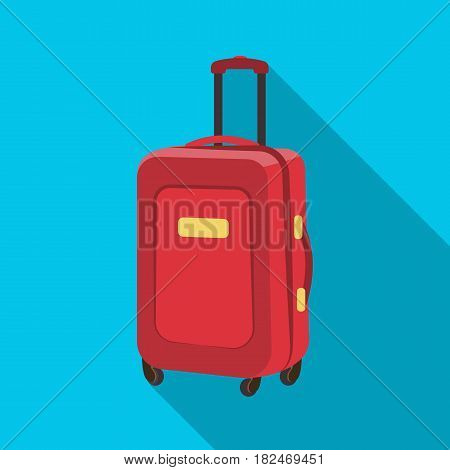 Travel luggage icon in flat design isolated on white background. Rest and travel symbol stock vector illustration.