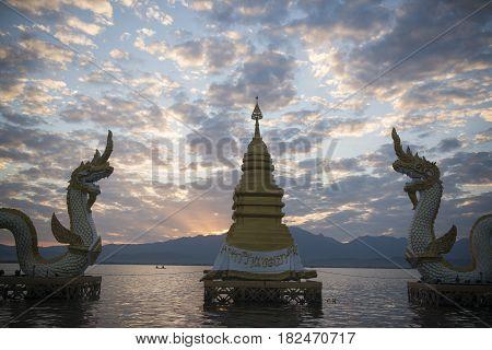 Thailand Phayao Lake Phayanak Naga Statue