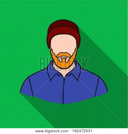 Lumberjack icon in flat style isolated on white background. Sawmill and timber symbol vector illustration.