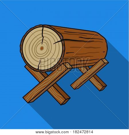 Goats for sawing icon in flat style isolated on white background. Sawmill and timber symbol vector illustration.