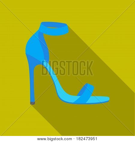 Ankle straps icon in flat style isolated on white background. Shoes symbol vector illustration.