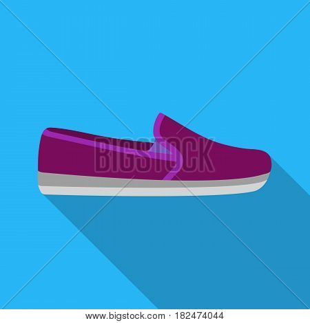 Moccasin icon in flat style isolated on white background. Shoes symbol vector illustration.