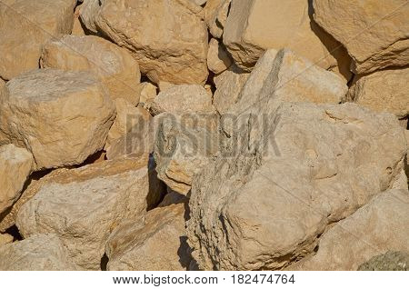 An Abstract Background of Big Yellow Stones