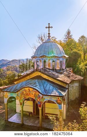 Church of Sokolski Orthodox Monastery Located in Bulgaria on the Northern Slope of the Balkan Mountains