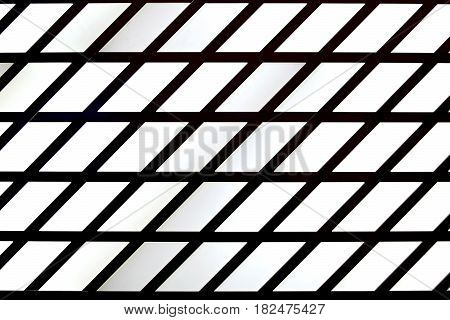 Abstract striped grid textured background. Geometric pattern. Black and white stripes