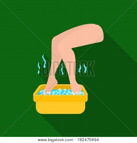 Foot bath icon in flate style isolated on white background. Skin care symbol vector illustration.