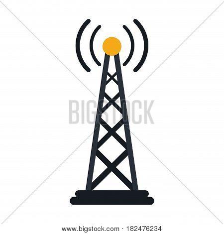 radio antenna transmission mast communication vector illustration
