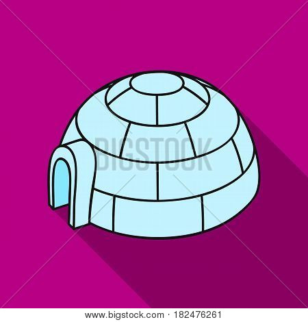 Igloo icon in flate style isolated on white background. Ski resort symbol vector illustration.